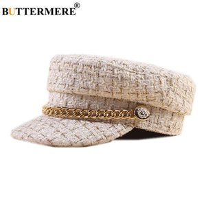 Hat Vintage Japanese Art Inverno Boné buttermere Tweed Newsboy Cap Marca Baker Boy Hat Ladies bege Outono