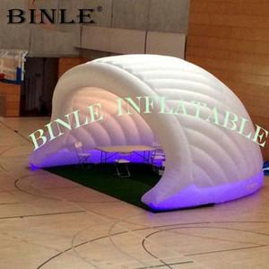 Kundenspezifische weiße aufblasbare halbe Kuppel Zelt mit LED-Leuchten halbe Kugel dome event blow up aufblasbare Iglu für Ausstellung