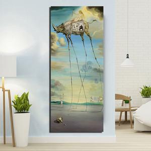 Salvador Dali celeste guida e L'Apoteosi di Omero poster Pitture Tela Immagini Soggiorno casa Decorazione Camera