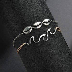 Conch Shell Bijoux Accessoires populaires Sandy Beach Sea Wave Shell Anklet Concise Ma'am Vaporiser Ornements Anklet