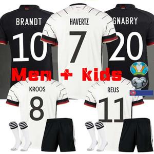 MEN + KIDS Германия Евро-2020 трикотажные изделия футбола Главная Вдали комплект комплект Хуммельс Кроос Draxler REUS MULLER Гетце KIMMICH футбол рубашка форменная