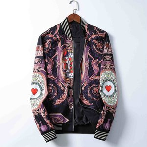 2020ss manga larga cazadora-cremallera carta de la moda chaqueta de los hombres belgas fina impresión señoras delgadas protector solar chaqueta de desgaste al aire libre