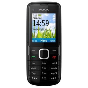Nokia C1-01 Desbloqueado Câmera Bluetooth móvel 2G GSM 850/900/1800/1900 Suporte Multi-idioma do teclado do telefone remodelado com Box