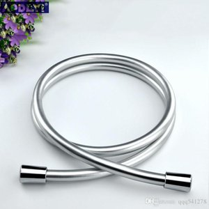 PVC High Pressure Silver & Black PVC Smooth Shower Hose For Bath Handheld Shower Head Flexible Shower Hose Free Shipping