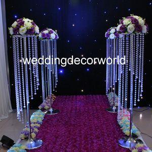 Centrotavola di cristallo centrotavola centrotavola da sposa 120cm Decorazione per corridoio navata in acrilico