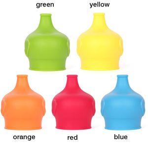 Silikon Sippy kapaklar fil şekilli fincan kapağı Reuseable kapak sızdırmaz fincan çocuklar için su şişesi Brinkware araçları 5 renkler XH1083