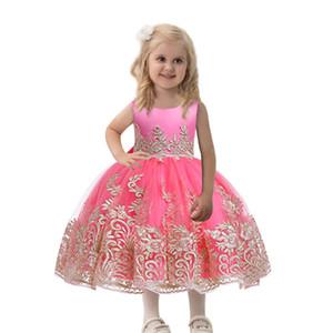 Corredo vestidos Infantils formale principessa partito vestito da spettacolo abito bambina di compleanno Frocks
