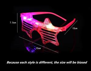 óculos Forma Led Óculos coração de incandescência do partido Light Up Shades Rave luminescentes óculos DJ festa de Natal Decoração partware T2I5576