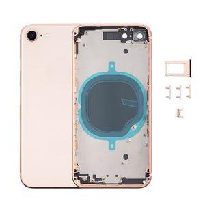Qualité OEM pour iPhone 8 Plus X XR S MAX boîtier de la batterie pleine couverture arrière de remplacement avec cadre arrière en verre Livraison gratuite