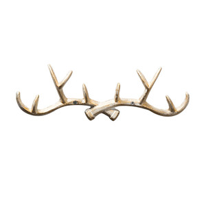 Gancio universale in ferro battuto nordico Creativo a forma di corno Porta con gancio dietro la decorazione della parete