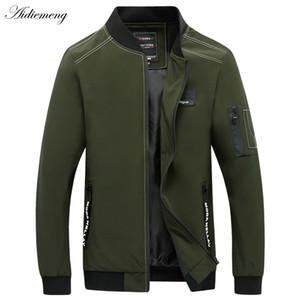Hafif Katı Moda Erkek Palto İnce Erkek Dış Giyim Windbreaker fermuar Bombacı Ceket Erkekler Yeni Casual Slim Fit Erkek Ceket