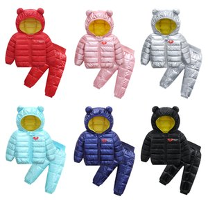 2020 Winter Children Clothing Sets Boys Warm Hooded Down Jackets Pants Clothing Sets Baby Girls Boys Snowsuit Coats Pants Suit