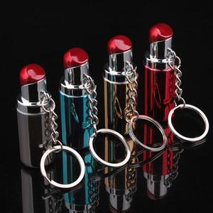 미니 립스틱 모양의 여성 컬렉션에 대한 라이터 창조적 인 휴대용 열쇠 고리 화염 부탄 가스 라이터를