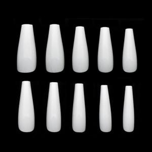 Prego de caixão 100PCS Sugestões Imprensa on Cover Unhas compridas bailarina Nails Limpar completa Acrílico pontas das unhas falsas 10 tamanhos