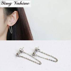 ying Vahine 100% 925 Sterling Silver pendant borla Beads brincos para mulheres