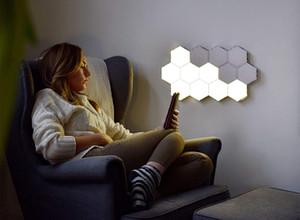Quantum Lâmpada Modular Sensível Ao Toque Lampara Iluminação Luzes LED Hexagonal Lâmpadas LED Hexágonos Magnéticos Decoração Criativa Parede Lámpara