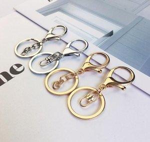 New Rings Keychain Lobster Clasp Tone Keychains Chains & Car Silver Gold Biger Split Round Key Key Rings Blank Metal Rxlsj