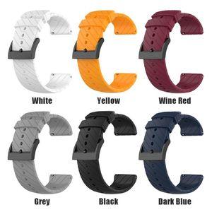 Спорт Мягкие силиконовые Замена ремешок Ремешок для Suunto 9/9 Баро Медь часы браслет ремешок наручных часов пояса