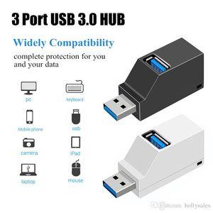 무선 미니 3 포트 USB 3.0 허브 고속 데이터 전송 스플리터 어댑터를 들어 PC 노트북 맥북 프로 멀티 포트 USB 허브 확장기