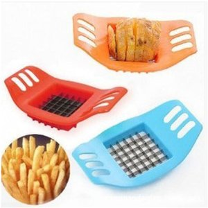 Potato taglierina in acciaio inox di verdure Chopper Chips fabbricazione di utensili da taglio patate fritte Strumento di cucina Accessori LXL1098-1