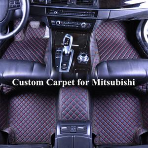 Venta al por mayor de encargo del coche tapetes para Mitsubishi Outlander 2005 Lancer Eclipse pajero ASX 1200 3D de lujo Alfombras Alfombra Coche Tapete Carro