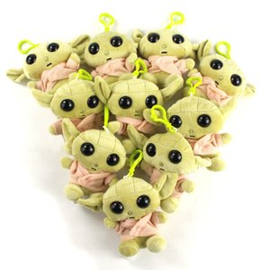 10cm 10pcs lot Master Yoda Plush Pendants Soft Stuffed Dolls Keychains Toys For Kids Birthday Gifts Y200703