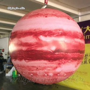 Giant Lighting Inflatable Cosmic Planet Jupiter Model Personalized Bright LED Star Ball For Concert Party Night And Stage Decoration