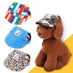 Dog Hats Multi-Color Pet Baseball Cap Puppy Sport Hat Outdoor Sunbonnet Cap with Ear Holes and Adjustable Neck Strap for Dog