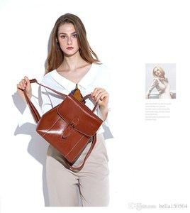 Progettare Genuine piena estate in pelle di qualità della stampa di modo zaino sacchetto di scuola unisex zaino Student Travel femminile ST ARK ZAINO