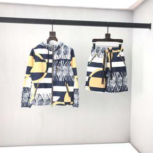 Brand Summer Men And Women Printed Cotton Short Sleeve + Trousers Set Short Sleeve T-shirt Leisure Sports Suit Unisex EU size