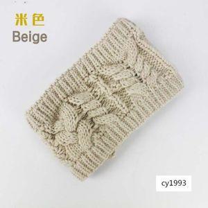 Head cover bottomless twist warm thickened wool knitted ski cap hair band crochet headband