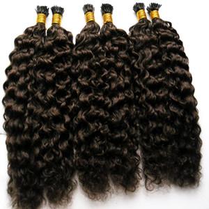 Fabrika Toptan Sapıkça Kıvırcık Saç İtalyan keratin Füzyon Sopa Ben IÇIN TIP Ön Gümrük İnsan Saç Uzantıları 100g Afro Kinky Kıvırcık Saç 100 s