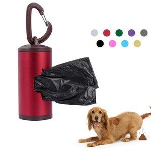 Colorful Holder Pet Poop tubo Dog Waste Dispenser lega di alluminio Include 15pcs sacchetti di rifiuti ricaricabile Animali per Accessori