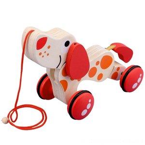 Pull madeira Criança Criança Brinquedo Woodentoon Bikes Ride-Ons Sports Outdoor puppy Toy Car Transportando Car