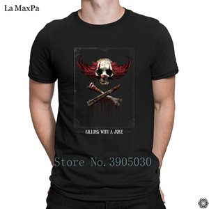 Designer Vintage New Arrival T-Shirt Killing With A Joke T Shirt For Men Solid Color Tshirt For Men Weird O Neck Tee Shirt Gift