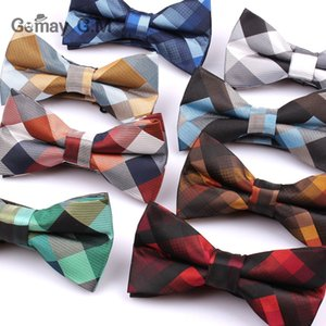 Suits Bow Neck Tie Set Ties Ties For Men Polyester Cravats Fashion Adjustable Bowtie for Wedding Party Groom Butterfly Adult Plaid Bowties