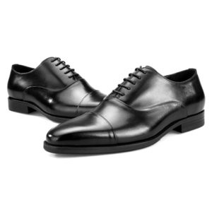 Top Quality Genuine Leather Mens Dress Shoes Black Brown Formal Business Male Shoes 2020 British Wedding Lace Up Oxford Footwear