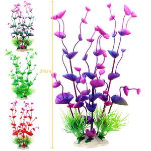 PVC Aquarium Colorful Plants Green Artificial Plastic Underwater Grass Plants aquarium accessories Decoration for Aquarium