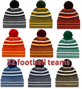 Hat Fabrik neue Ankunfts-Sideline Beanies Kappen American Football 32 Teams Sport Winter Seitenlinie Strickmützen Beanie Strickmützen
