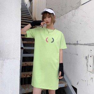 Designer La chemise des femmes Robes d'été T-shirt New 20s en vrac Robes Femmes Marque L0g0 Tee Dress 5 couleurs Taille S-2XL YF204111
