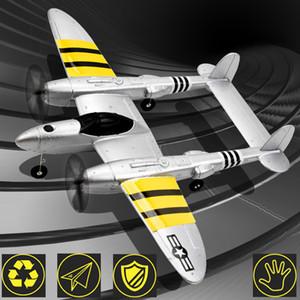 New Beginner 2.4G 2CH RC elétrica Glider Plane 120 Metros remoto aviões de controle de alta qualidade Toy AOSST Y200317