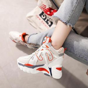 뜨거운 판매 - 여성 desinger 신발 높이 캐주얼 스포츠 상자 높은 뒤꿈치 두꺼운 단독 무료 배송 웨지 운동화 신발 증가
