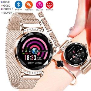 Smart-Armband-Uhr-Frauen Art und Weise 3D-Farbbildschirm-Digital-Sport-Uhr-Frauen Herzfrequenz Blutdruck Bluetooth Smartwatch