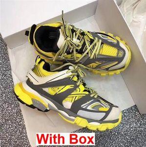 Com Caixa Triplo S Faixa 3.0 Deslizante Atletismo Trainer Sapatilha Sapatos Casuais Tess Paris Preto Baixo Faixa 3 M Tênis