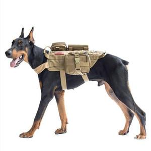 Cão de polícia Grandes Cães Roupas Táticas Coletes Táticos Com Sacos 600D Tecido de Nylon Waterpoof Cães Táticos Desgaste
