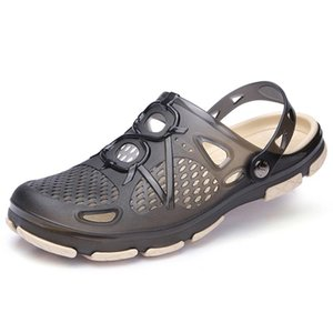Summer Jelly Shoes Men Beach Sandals Hollow Slippers Men Flip Flops Light Sandalias Outdoor Summer Chanclas