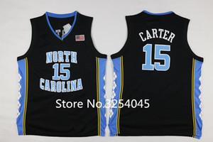 New # 15 Vince Carter Schwarze North Carolina Teerabsätze College Basketball Jersey All Size Weste Trikots NCAA