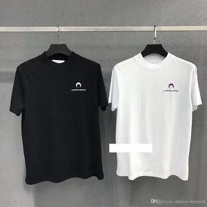 2019 new marine serre moon embroidery classic short sleeve cotton short sleeve t-shirt Tee S-L