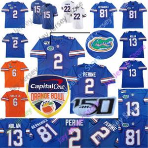 2020 Individuelle Florida Gators College-Football-Trikots Kyle Trask Feleipe Franks Aaron Hernandez Lamical Perine Greenard Hammond Kadar