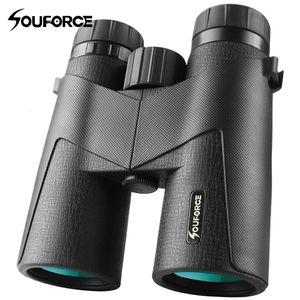 Telescópio Binóculos 8x42 / 10X42 Waterproof FMC Multilayer Verde Film Professional Hunting Camping para Outdoor Assistir T191014